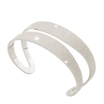Bracciale Amalfi rigido a fascia doppia medio diamantato