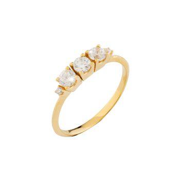 Anello Victoria Trilogy in oro 18kt e diamanti