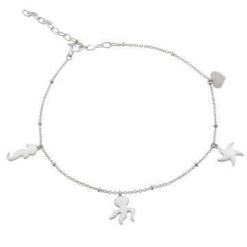 """Anklet """"Waves"""" with pendant charms - Romance and sensuality"""