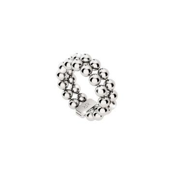 Anello in argento con doppia fila di sfere
